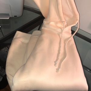 Very light pale pink/cream hoodie